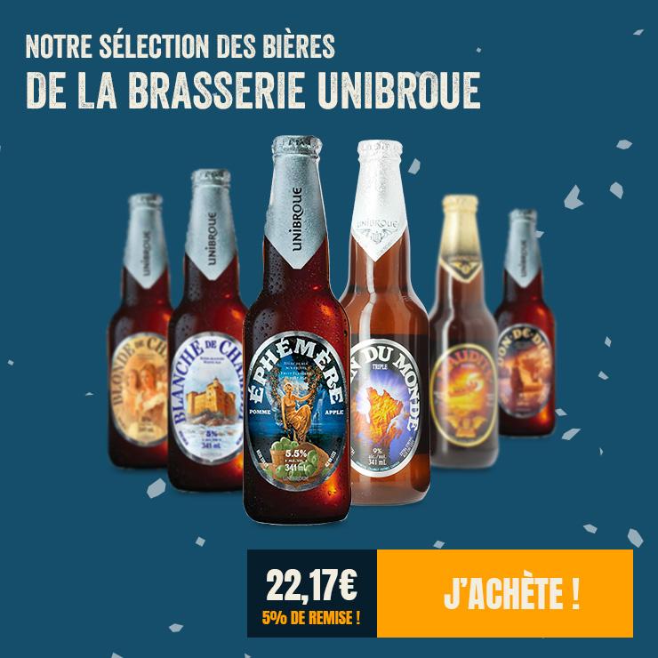 La sélection des bières Unibroue