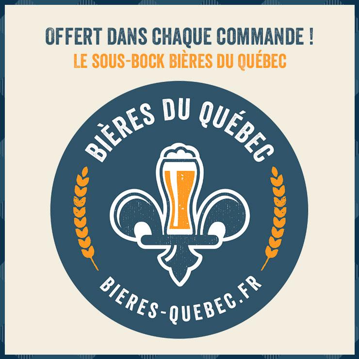 Offert dans chaque commande ! Le sous-bock Bières du Québec